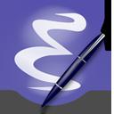 http://cvs.savannah.gnu.org/viewvc/*checkout*/emacs/emacs/etc/images/icons/hicolor/128x128/apps/emacs.png
